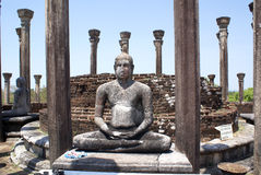 Buddhas en Medirigiriya Foto de archivo libre de regalías