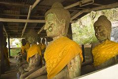 Buddhas en pierre Images libres de droits