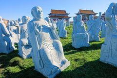 Buddhas en pierre de sculpture Photos libres de droits
