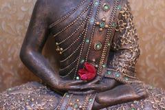 Buddhas Füße Stockbild