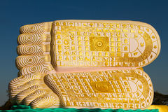 Buddhas feet of The Golden Pagoda of Bagan, Myanmar Royalty Free Stock Photo