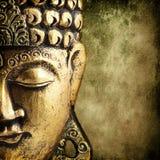 Buddhas Gesicht Stockfoto