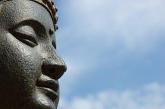 Buddhas Gesicht lizenzfreie stockfotografie