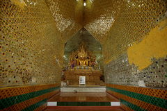 Buddhas and gods statues in Myanmar. The Buddhas and gods statues in Myanmar royalty free stock photos