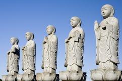 Buddhas-Gruppe Stockfoto