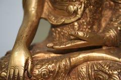 Buddhas Hände Stockfoto
