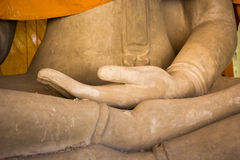 Buddhas hand. Made of mortar Royalty Free Stock Images