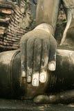 Buddhas hand Sukhothai thailand Stock Photos