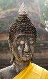 Buddhas Hauptbeschaffenheit siamesischer Tempel Stockfotos