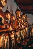 Buddhas in het Grote Paleis in Bangkok stock foto's