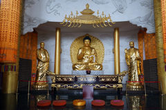 Buddhas im Kloster Lizenzfreies Stockbild
