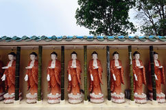 Buddhas in Kek Lok Si temple,Penang Royalty Free Stock Image