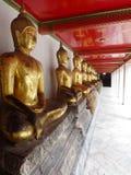 Buddhas nel grande palazzo a Bangkok Fotografia Stock