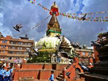 Buddhas oczy Fotografia Royalty Free