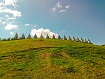 Buddhas op de heuvel Stock Fotografie