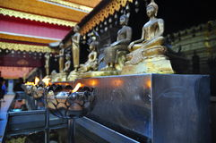 Buddha Statues with Lamp Royalty Free Stock Images