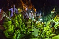Buddhas in Pindaya caves, Myanmar royalty free stock images