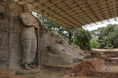 Buddhas Polonnaruwa в Шри-Ланке стоковые изображения