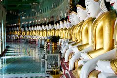 Buddhas at Sagaing, Mandalay Stock Image
