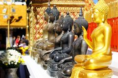 Buddhas sculptures Royalty Free Stock Photography