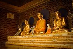 Buddhas of Shwedagon Pagoda, Yangon, Shwedagon Pagoda, Yangon, Myanmar Stock Photos