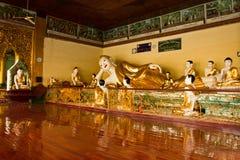 The Buddhas of Shwedagon Pagoda, Yangon, Shwedagon Pagoda, Yangon, Myanmar Stock Images