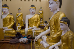 Buddhas statue in Myanmar Royalty Free Stock Image