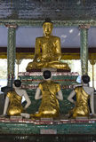 Buddhas statue in Myanmar Stock Images