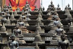Buddhas and stupas in Colombo Sri Lanka Royalty Free Stock Photo