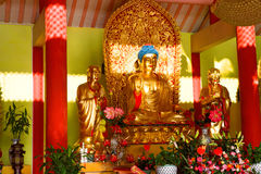 Buddhas in temple Royalty Free Stock Photos
