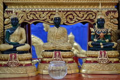 The Buddhas of the three times (Past, Present and Future) Stock Photos