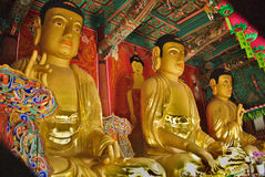 buddhas tre Royaltyfria Foton