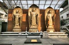 buddhas trois d'or Image libre de droits
