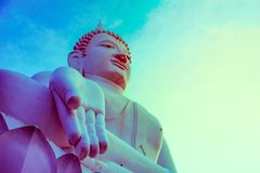 Buddhas van Wat Thep Phithak Punnaram in Nakhon Ratchasima Vintag Stock Foto