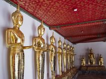 Buddhas in Wat Pho Stock Foto's