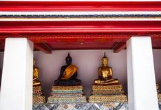 Buddhas in Wat Pho, Bangkok Stock Foto
