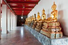 Buddhas. Wat Pho, Bangkok, Thaïlande Photos stock