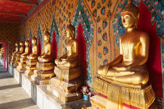 Buddhas in Wat Pho. Bangkok, Thailand. Royalty-vrije Stock Foto