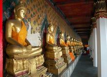 Buddhas at Wat Pho long gallery Stock Photos