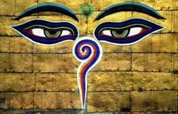Buddhas wisdom Eyes royalty free stock photography