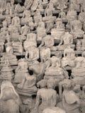 Buddhas zonder hoofd, Laos Stock Afbeeldingen