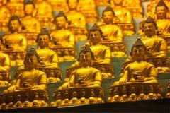 BuddhaSakyamuni statyer Arkivfoto