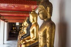Buddhasammanträdestaty - Thailand Arkivfoto