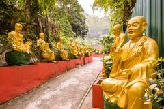 buddhaskloster tio tusen Arkivbilder