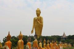 Buddhaskulptur Arkivbild