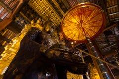 Buddhaskulptur Arkivfoto