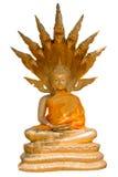 Buddhaskulptur i den Thailand templet Royaltyfri Bild