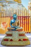 Buddhaskulpturslut upp Wat Doi Suthep Chiang Mai Asien Arkivbild