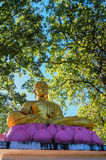 Buddhastatue i nordliga Thailand Arkivfoto