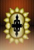 Buddhastaty vektor illustrationer